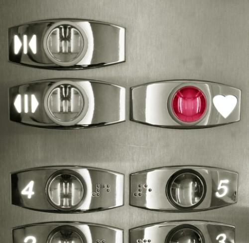 Elevator keypad with love-heart