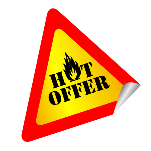 Hot Offer in a roadside warning triangle