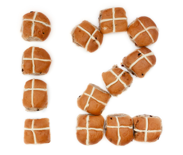 Baker's Dozen of Hot Cross Buns to illustrate 13 tips for effective business writing
